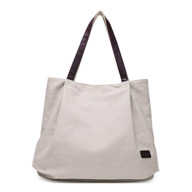 Large Capacity Shoulder Bags Casual Handbags Women Famous Brand Canvas Tote Shopping Bag 1