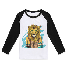 Children 2019 Fashion Baby Girl Clothing T-Shirt Boy Clothes Girl Long Sleeve Tshirt Kids Costume Lion Printed Cotton Tee Shirts цена 2017