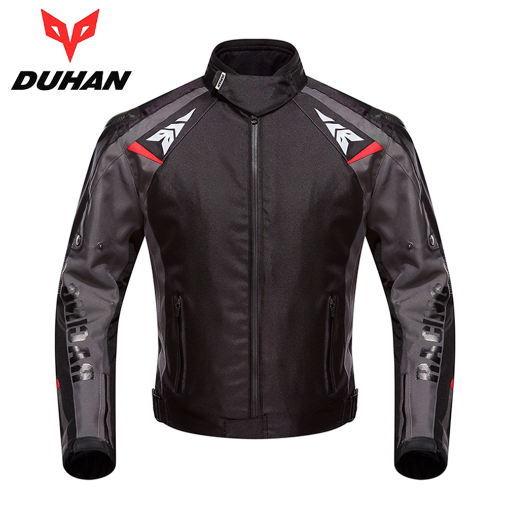 DUHAN Motorcycle Jacket Men Waterproof Motocross Off-Road Street Racing Moto Jacket Shoulder Pad Motorcycle Touring Riding 117 duhan motorcycle waterproof saddle bags riding travel luggage moto racing tool tail bags black multifunction side bag 1 pair