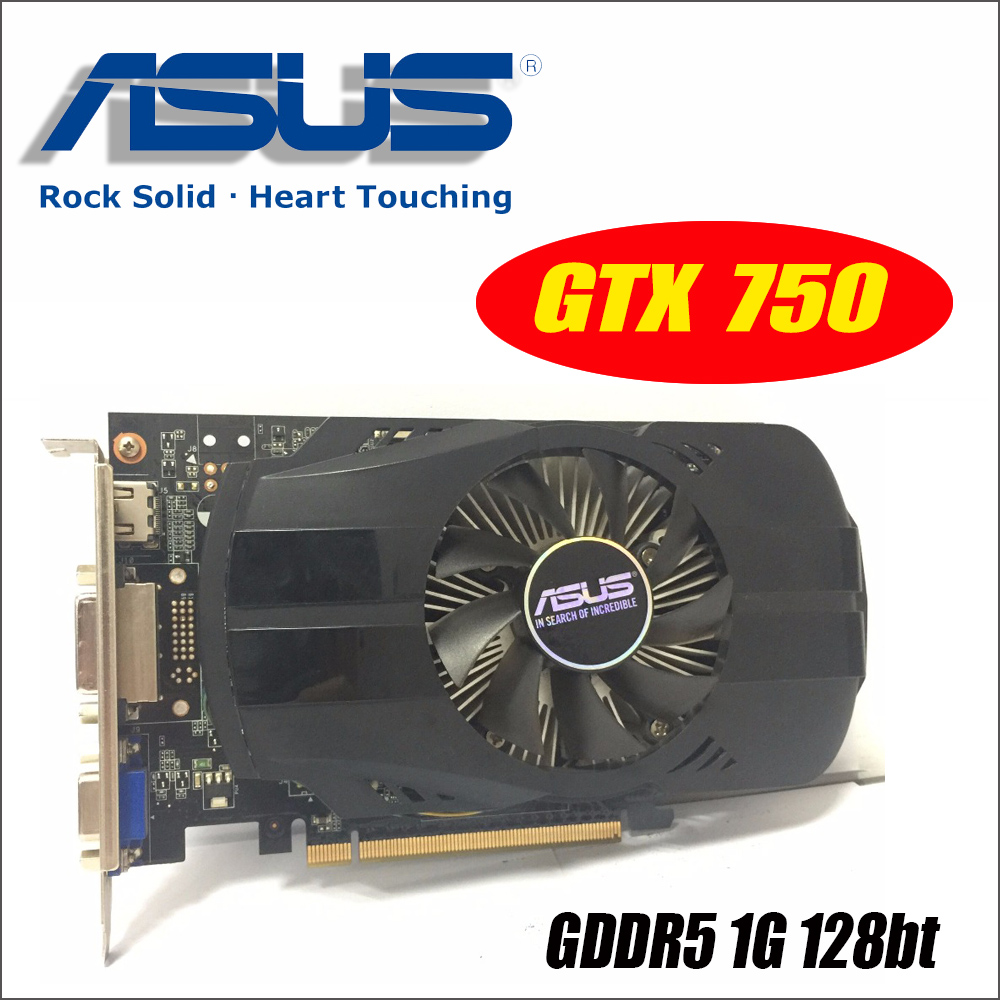 Asus GTX-750-FML-1GD5 GTX750 GTX 750 1g D5 DDR5 128 Peu PC De Bureau Cartes Graphiques PCI Express 3.0 ordinateur Graphique cartes
