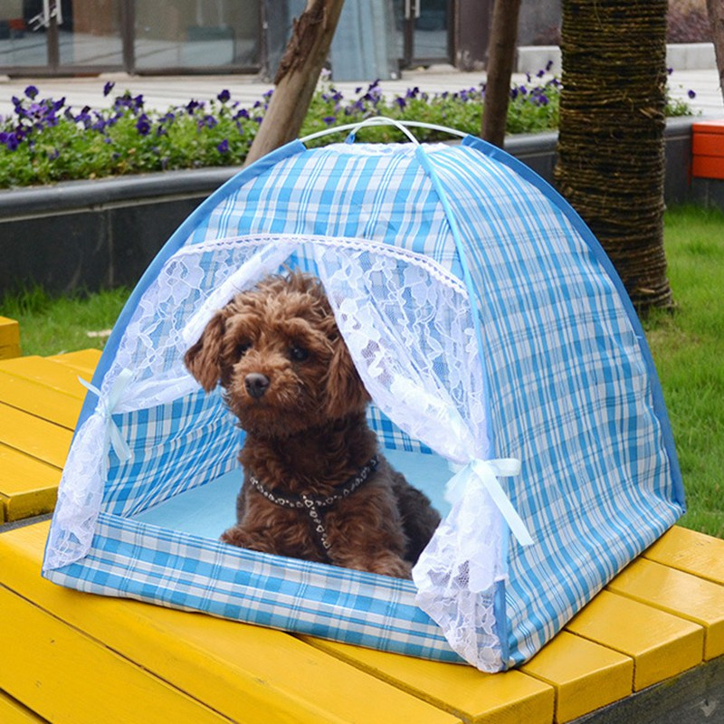 Summer Outdoor Travel Pet Camping Tent Dog Kennel House