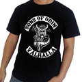 Camiseta de los hombres Hijos de Odín Vikingos hip hop hombres camiseta de algodón 2016 del estilo del verano El Envío Libre