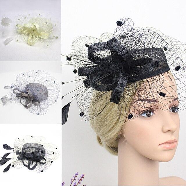 Black Golden Wedding Hats Fascinators Women Flat Sinamay Beret Hat Bowler  Feather Hair Base Size 16 Cm 26cd00e1661e