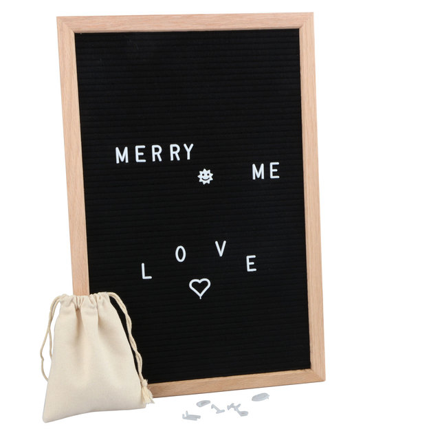 Us 290 11 Off1218 Inch Bar Home Letter Board Sign Message Board 340 Pcs White Letters Symbols Numbers Kids Fun Learning Decorative Boards In