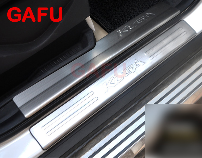 где купить Car Door Sill Trim For Ford Kuga Escape Scuff Plate Guards Door Sills Protector Car Accessories Sticker 2012-2015 по лучшей цене