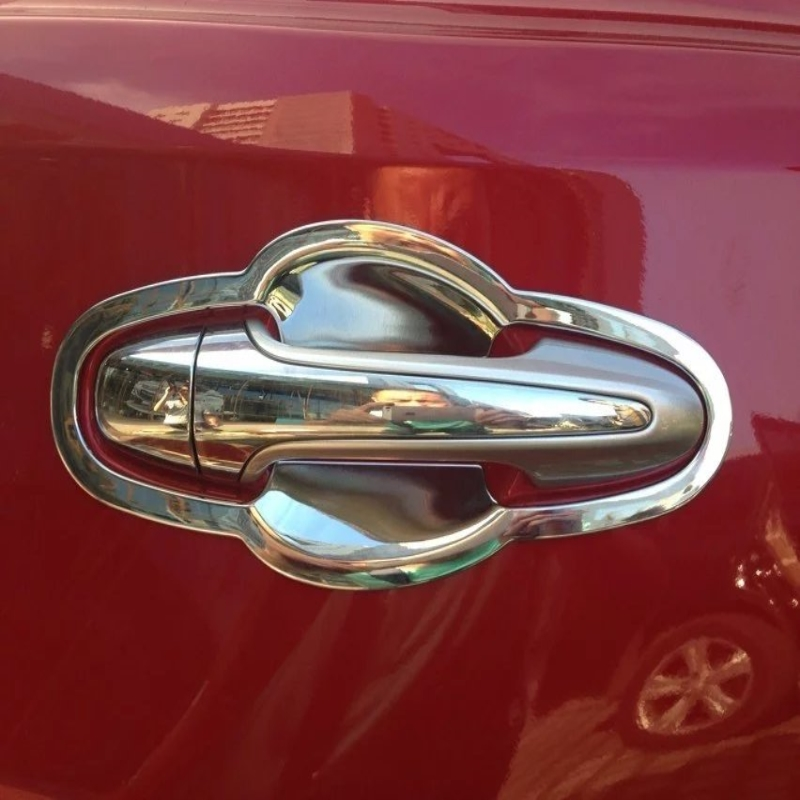 For <font><b>Toyota</b></font> <font><b>RAV4</b></font> 2014 2015 2016 2017 <font><b>2018</b></font> Exterior Door Handle Bowl Trim Cover ABS Chrome Car Styling Auto <font><b>Accessorie</b></font> image