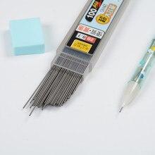 Lápis mecânico de grafite automático, lápis de substituição para escrita suave, desenho e papelaria apagável, 100 pçs/caixa