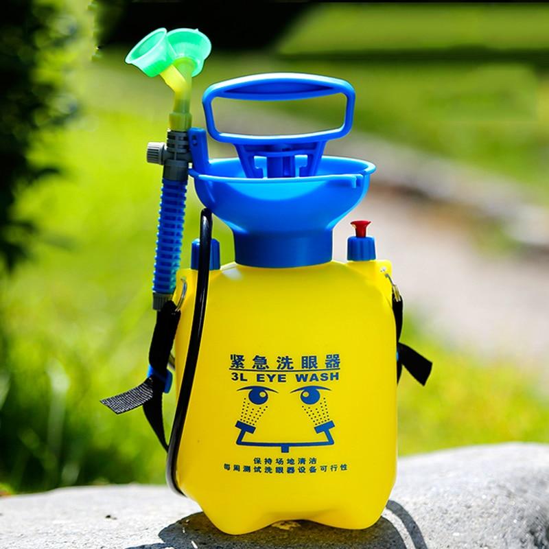 3L Emergency Eye Wash Portable Removable Emergency Shower Manual Device Spray Irrigator First Aid Eye Wash