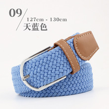 117-130cm New long Casual stretch woven belt Women's unisex Canvas elastic belts for men jeans elastique Modeling belt N008