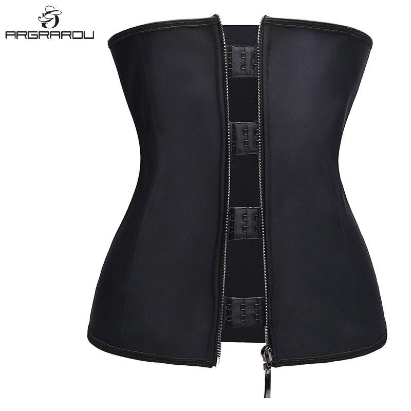 2d126157ffe Buy steel bone zipper waist trainer and get free shipping on AliExpress.com