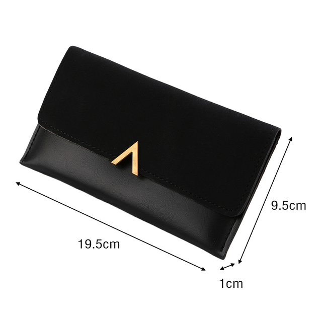 Long V Women Leather Bifold Wallet High Quality Hasp ID Card Holder Billfold Clutch Purse Zip Pocket 5