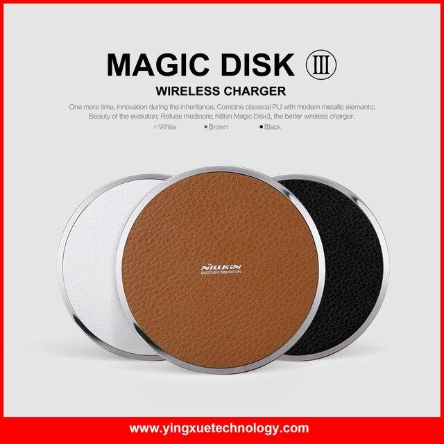 Nillkin Magic Disk III QI Standard Wireless Charger Pad for Galaxy S6 S6 Edge S6 Edge Plus, Note 5,Goggle Nexus 6/5/4, Nokia1520
