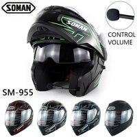 Dot Bluetooth Motorcycle Helmet Double Lens Flip Up Moto bike Casque capacete da motocicleta