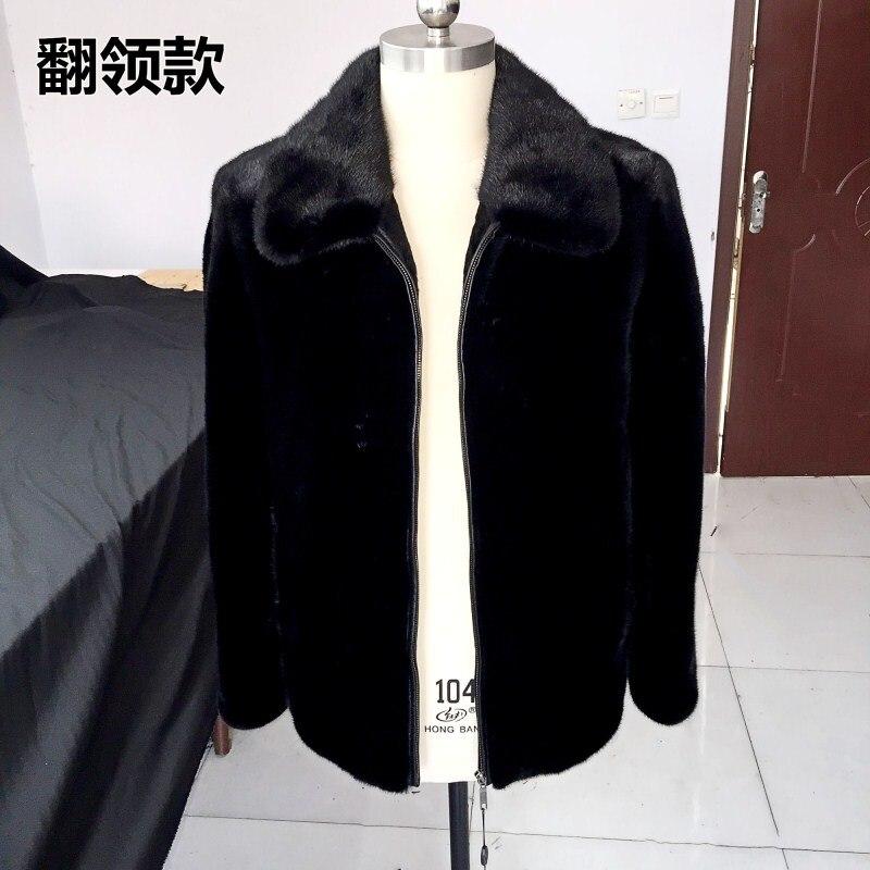 Stand Vison De Femmes 2018 Manteaux Black Hooded Fermeture Survêtement Nouvelle black Outwear Capuchon Éclair Fourrure black Veste À Collar Lapel 5X15qUwd
