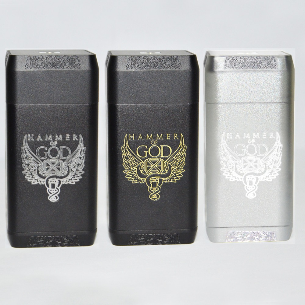Nuovo Martello di Dio V4 Box Mod Sigaretta Elettronica Vape Meccanico Mod misura 4*21700 Batteria Enorme Potere per mech RDA RTA RDTA Kit
