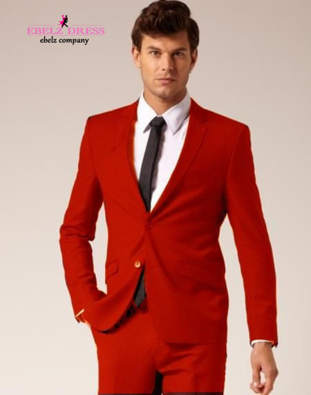 2015 New Arrival Masculino Wedding Jaquetas Red Wedding One Button