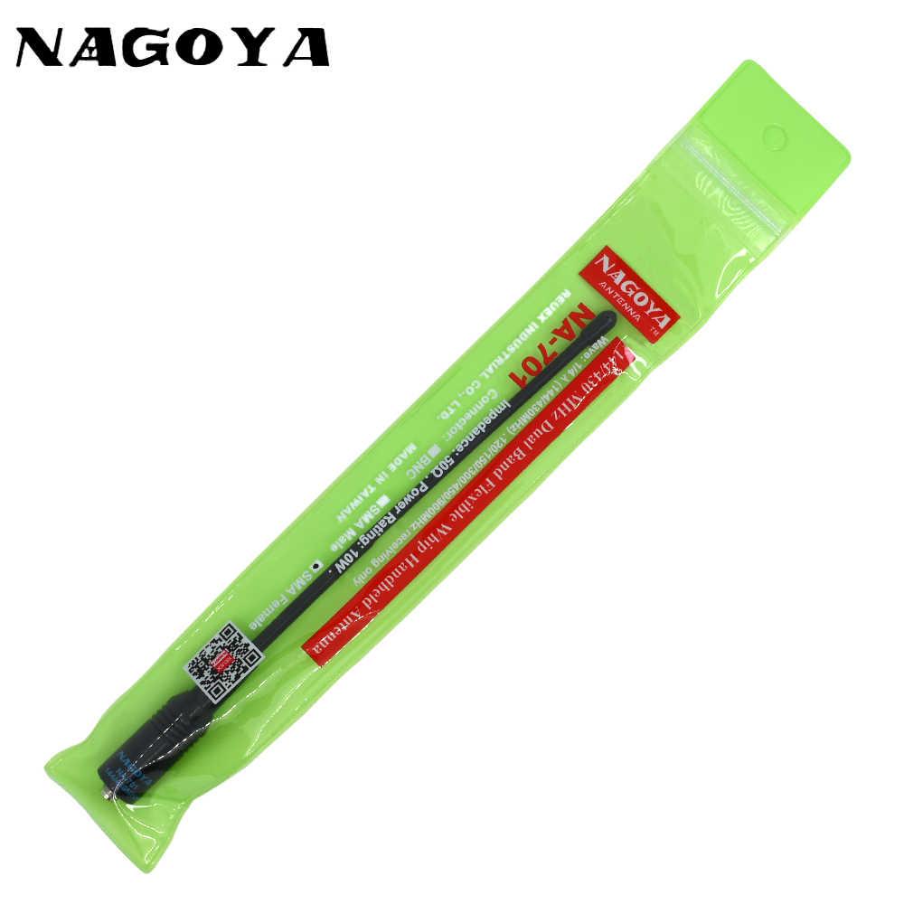Original Nagoya na-701 sma-f Female vhf uhf For Baofeng UV-5R UV-5RA UV-B5  BF-888S Two Way Radio 144/433MHz Antenna