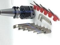 Novo bt30 m12 arbor f1-12 50mm cabeça chata & haste 12mm 6 peças borng barras & 10 peças inserções de carboneto