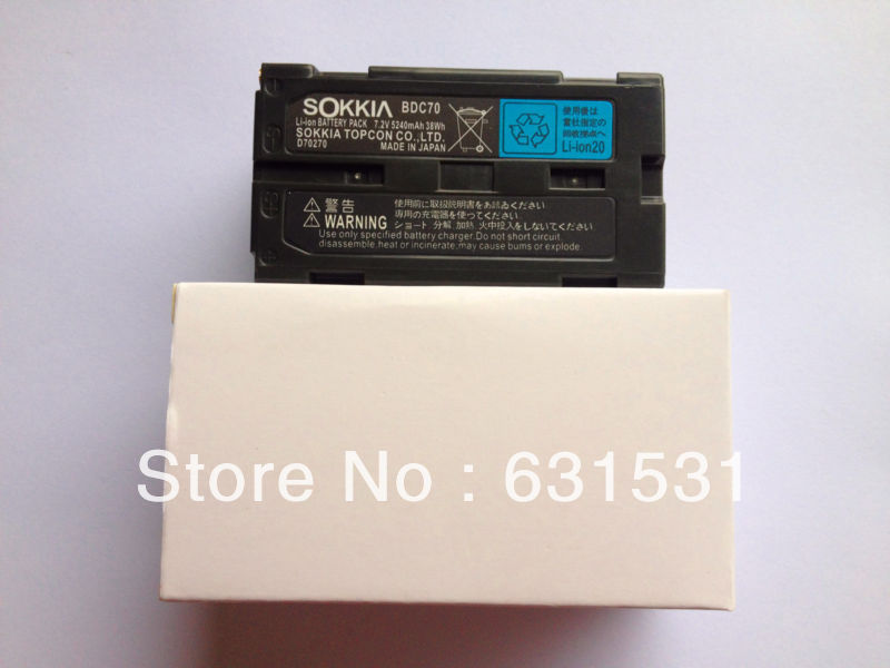 Details about  SOKKIA / TOPCON BDC70 Li-ion battery 7.2V 5240mAh FOR Total Station / GPS bdc58 bdc 58 7 4v 5200aah li ion battery for sokkia total station and gps