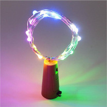 2M Cork Copper Wire Fairy LED String Lights Bottle Cover Night Light Decoration Christmas garland Wedding Party Holiday Light 6pcs wine bottles string lights fairy light led bottle cork light led string light home garland fairy party decoration d40