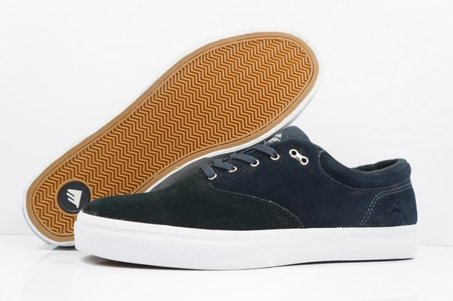 2016 Black Color Teenagers Shoes Emerica Reynolds Anti-Fur Rubber Hard-Wearing Shoes