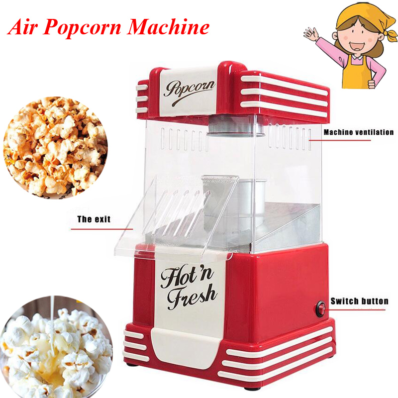 1pc Classic Popcorn Machine American Vintage Dual Popcorn Machine Sugar Household Air Popcorn Machine JH019 popcorn hour с 200