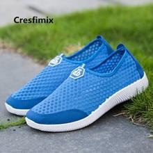 Cresfimix Baskets Hommes Male Fashion Breathable Shoes Men Casual Plus Size Blue Shoes Man's High Quality Black Shoes B3582