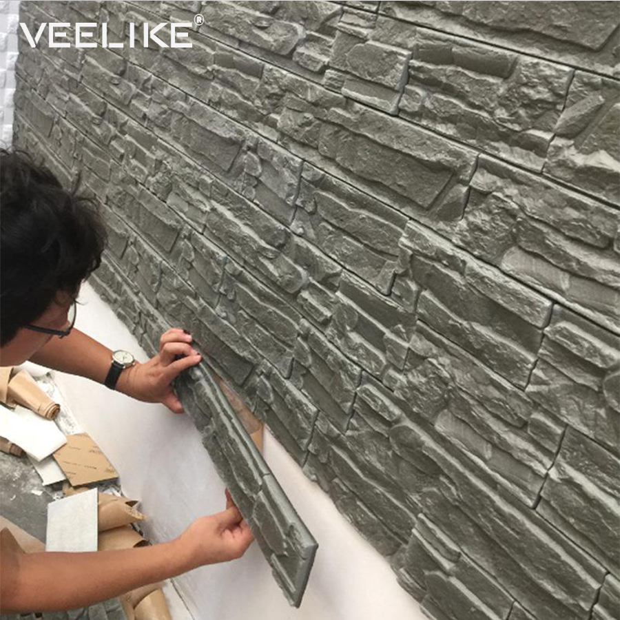 3D Wall Panels for Living Room 3D Brick Stone Wall Papers for Kids Room Bedroom Home Decor 3D Waterproof Self adhesive Wallpaper image