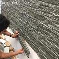 3D настенные панели для гостиной  3D кирпичные камни  обои для детской комнаты  спальни  домашний декор  3D водонепроницаемые самоклеящиеся обо...