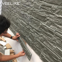 3D Wall Panels for Living Room 3D Brick Stone Wall Papers for Kids Room Bedroom Home Decor 3D Waterproof Self adhesive Wallpaper(China)