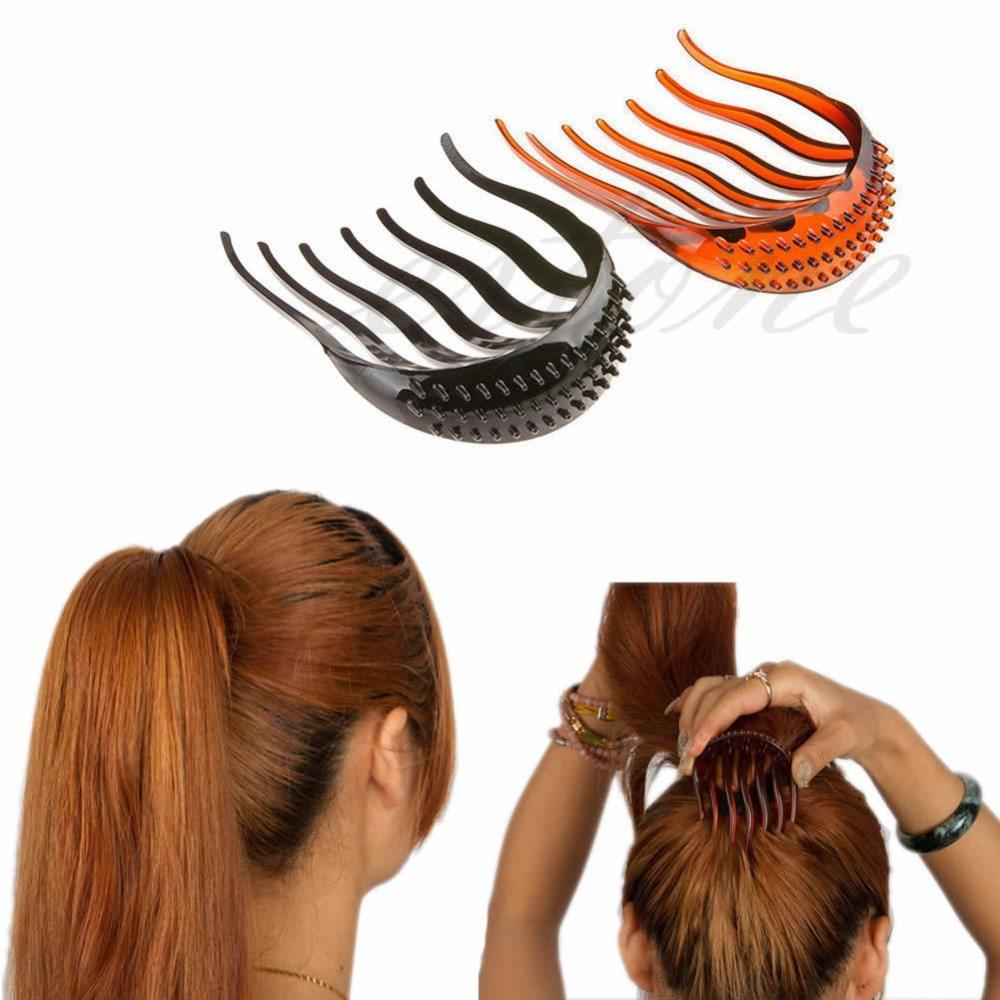 New Useful Volume Inserts Hair Clip Bouffant Bumpits Ponytail Hair Comb Bun Maker NW ...