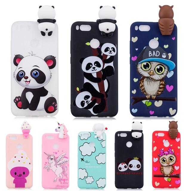 best sneakers ac64f 4ac35 US $2.61 24% OFF|Aliexpress.com : Buy 3D Soft Silicone TPU Case For Xiaomi  Mi A1 Cute Panda Owl Unicorn Phone Cases For Xiaomi Mi 5X / Mi5X / MiA1 ...