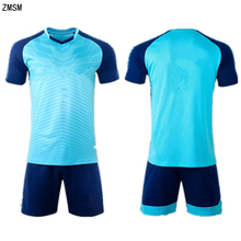 ZMSM Kids Adult Soccer Jerseys Kit Men Children Football Uniform Training Suit Short Sleeve V-neck Printed Sportswear MB8601