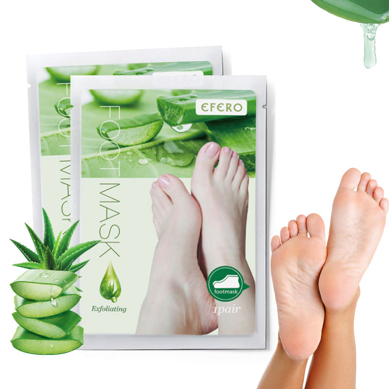 Baby Feet Exfoliating Foot Mask Socks For Pedicure Aloe Foot Peeling Mask Remove Dead Skin Exfoliation Feet Legs Foot Mask TSLM1