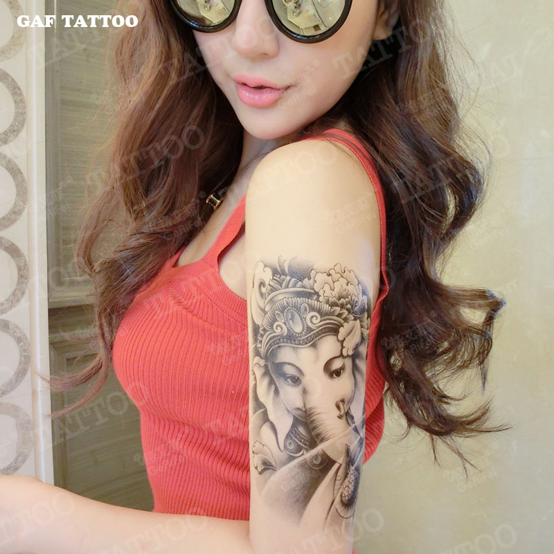 Temporary Tattoos Sticker for Women Sexy Arm Leg Fake Animal Elephant Lady Designs Waterproof Body Art Long Lasting Real Look