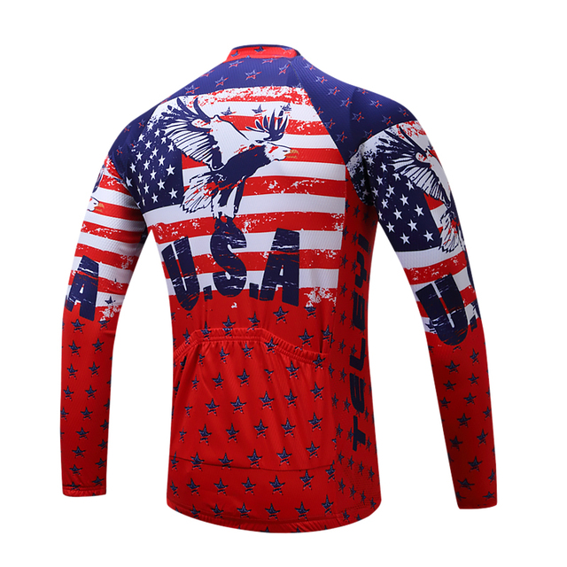 TELEYI Pro Team Gear Cycling Long Sleeve Uniforms Ropa Ciclismo Jersey MTB Bike Shirts Cycling Wear Clothes