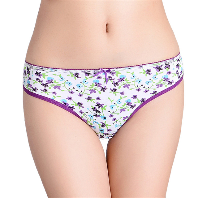 a80e6ecd41b3 FUNCILAC Woman Underwear Cotton Sexy Panties Floral Printed Briefs Ladies  Knickers Intimates For Women (5pcs/lot) SIZE M L XL