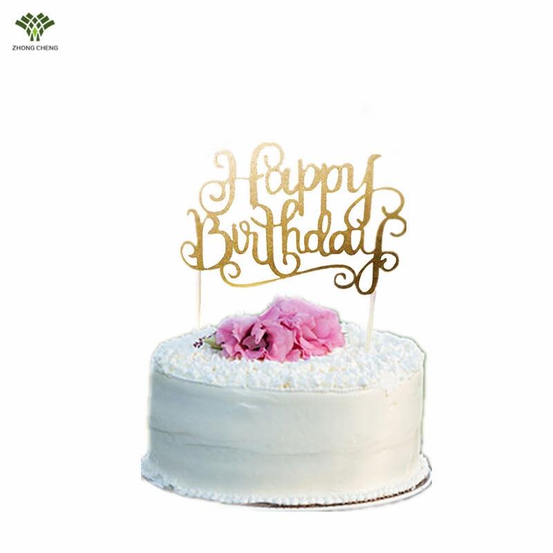 10 PCS Happy Birthday Cake Topper Letter Cake Picks Flag