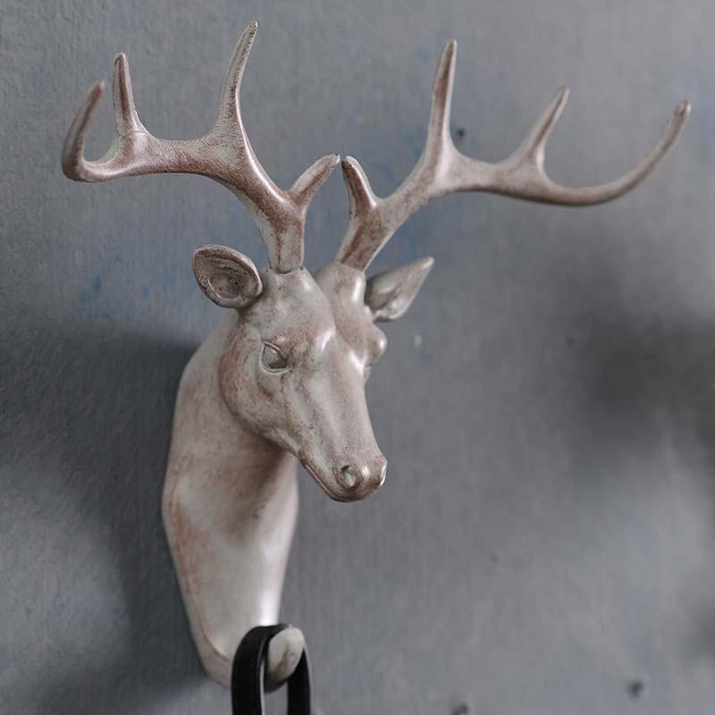 Americký jelen zvíře dekorativní stěna háky kreativní perspektiva retro oblečení kabát hák klíč vstupní bod bar