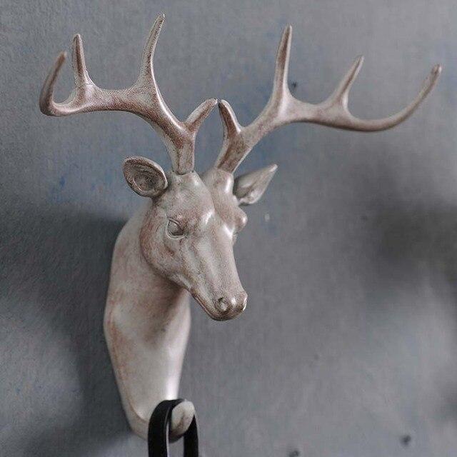 American deer animal decorative wall hooks creative perspective ...