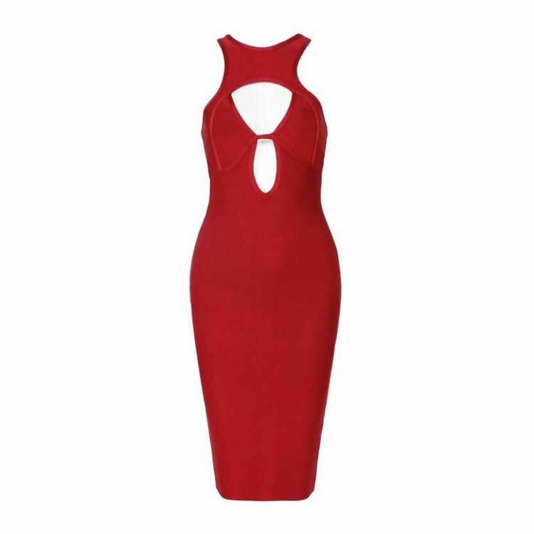 Новое поступление, красное повязное платье, открытое летнее женское платье, бюст, борцовка, длина до колена, Leger Babe Fiesta вечерние платья