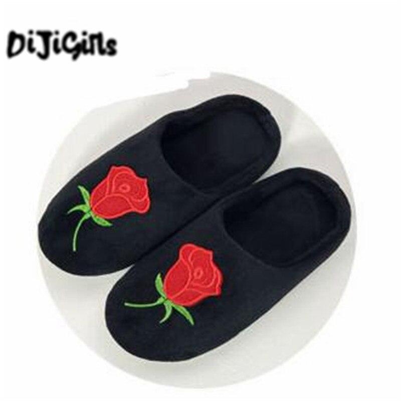 DiJi Girls Soft Coral Velvet Floor Home Indoor Slippers Quiet Cotton Fluffy Slippers For Women Comfortable Shoes Black 3pcs coral velvet soft toilet mat set