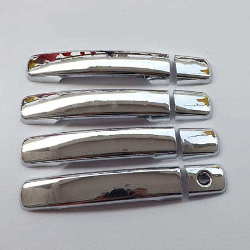 Бесплатная доставка ABS хромированная крышка ручки двери для Nissan Frontier Navara D40 2006-2013 автомобильные аксессуары