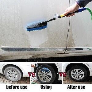 Image 5 - 새로운 블루 세차 브러쉬 호스 어댑터 청소 물 스프레이 자동차 청소 브러시 차량 트럭 세척 케어 액세서리