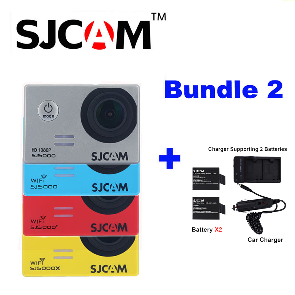 Original SJCAM SJ5000X SJ5000 Plus Sj5000 Wifi SJ5000 Waterproof Sports Action Camera DVR+2 Batteries +Dual Charger+Car Charger sjcam sj5000 plus black экшн камера