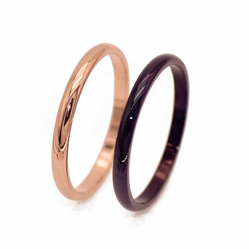 2019 New Titanium Steel Rose Men Gold Anti-allergy Smooth Simple Wedding Couples Rings