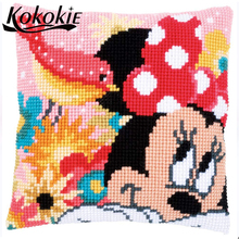 DIY material for handicraft needlework 3d embroidered mats fabric throw pillow knitting nee