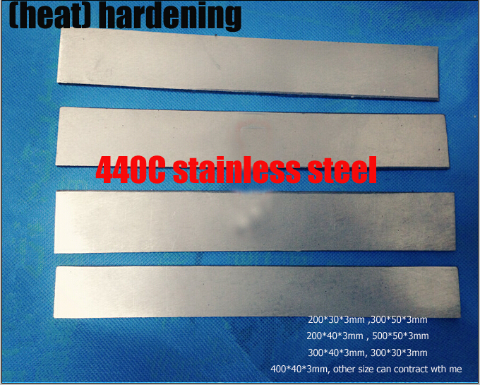 HRC58-60   heat  hardening 440C stainless steel plate bar rod knife DIY blade More size choose   cutter blank