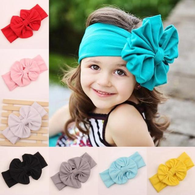 Baby Girls Head Wraps Cloth Messy Bow Baby Head Wraps