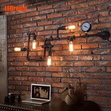 Creativa Americana rural viento industrial lámpara de café-bar, hierro forjado lámpara de pared de la tubería, restaura maneras antiguas